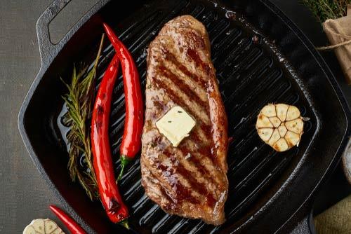 cook a striploin steak