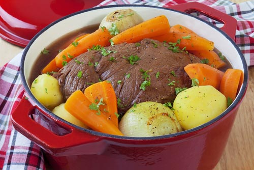 Cooking Meat in a Pot